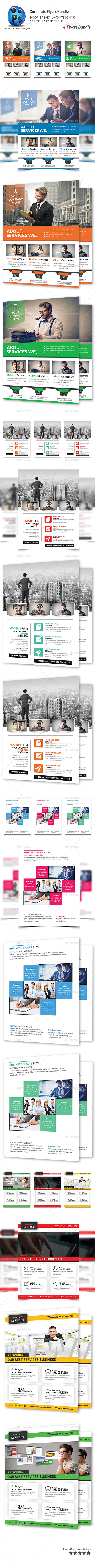 Corporate Business 4 Flyer Bundle - Corporate Flyers