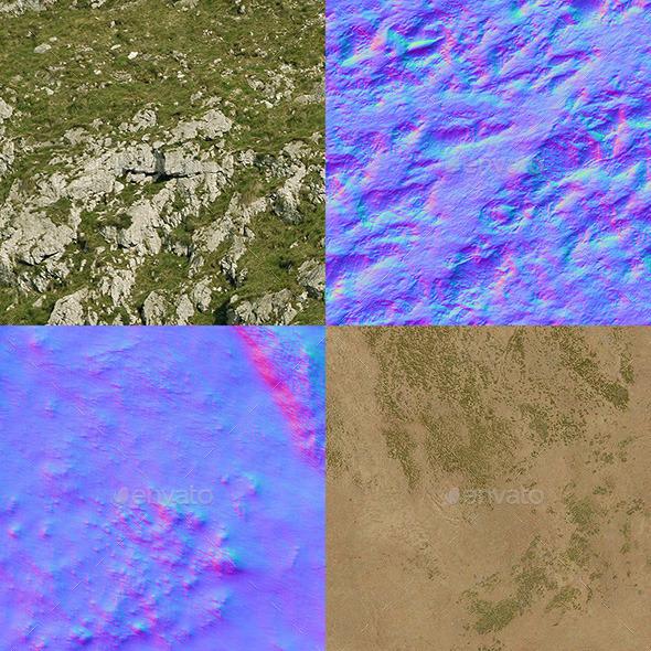 Terrain Texture Set - 3DOcean Item for Sale
