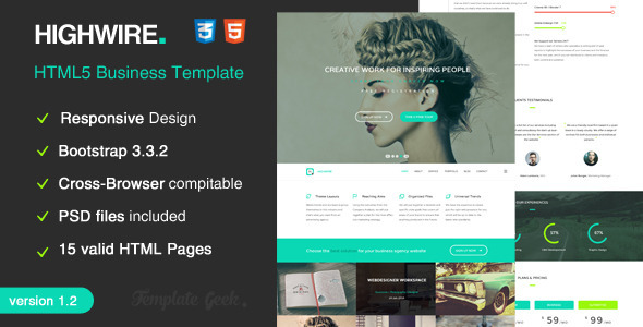 Highwire – HTML5 Responsive Business Template