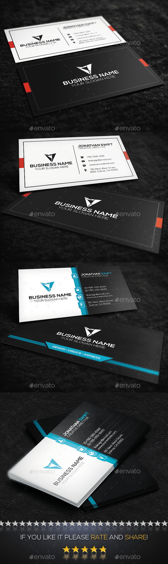 2 in 1 Corporate Business Card Bundle No.04 - Corporate Business Cards