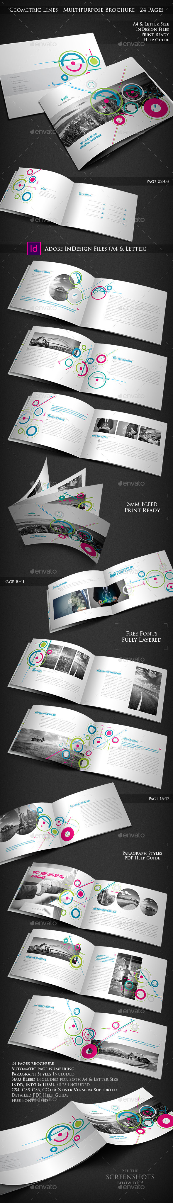 Geometric Lines - Multipurpose Brochure - Corporate Brochures