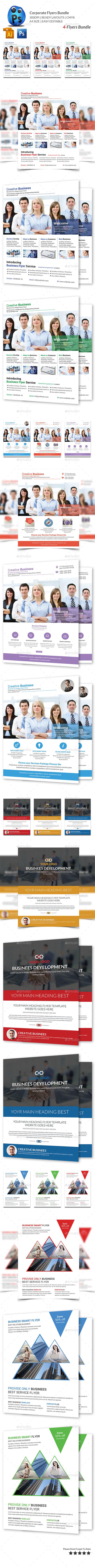 Corporate Business 4 Flyer Bundle - Corporate Flyers