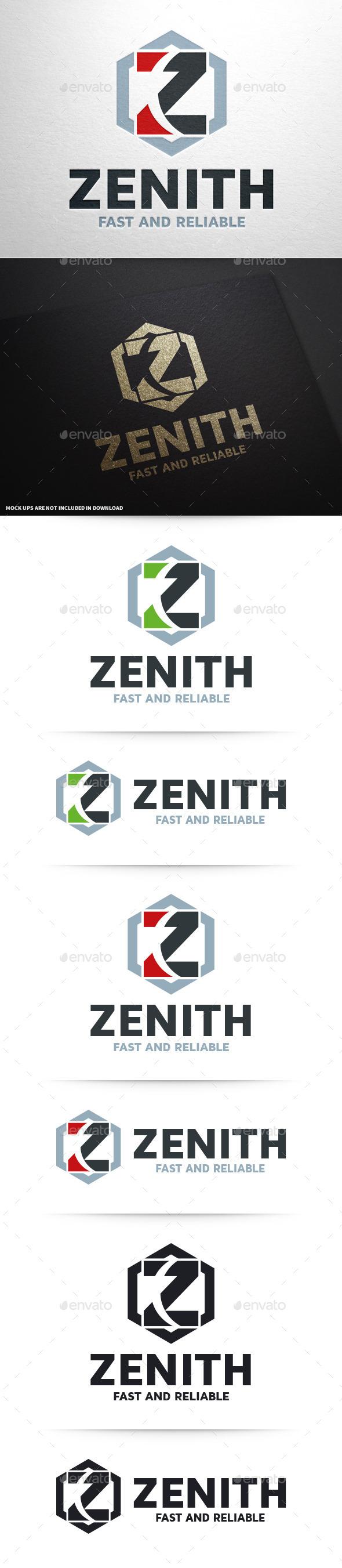 Zenith - Letter Z Logo - Letters Logo Templates