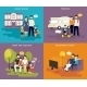 Family with Children Concept Set - GraphicRiver Item for Sale