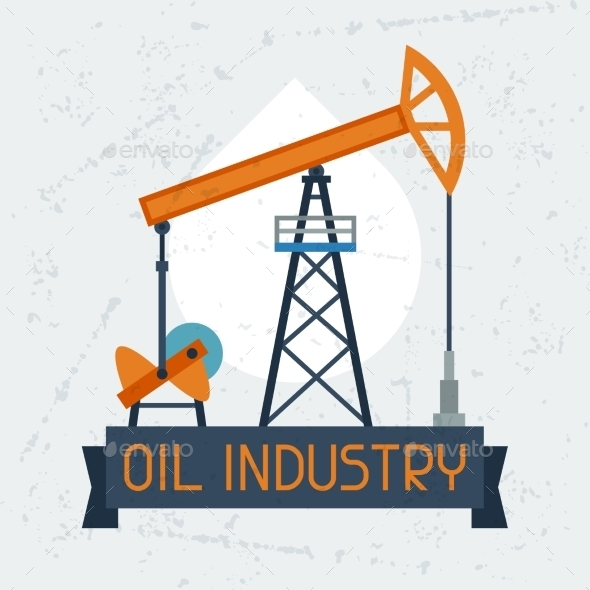 Oil Pump Jack Background - Industries Business