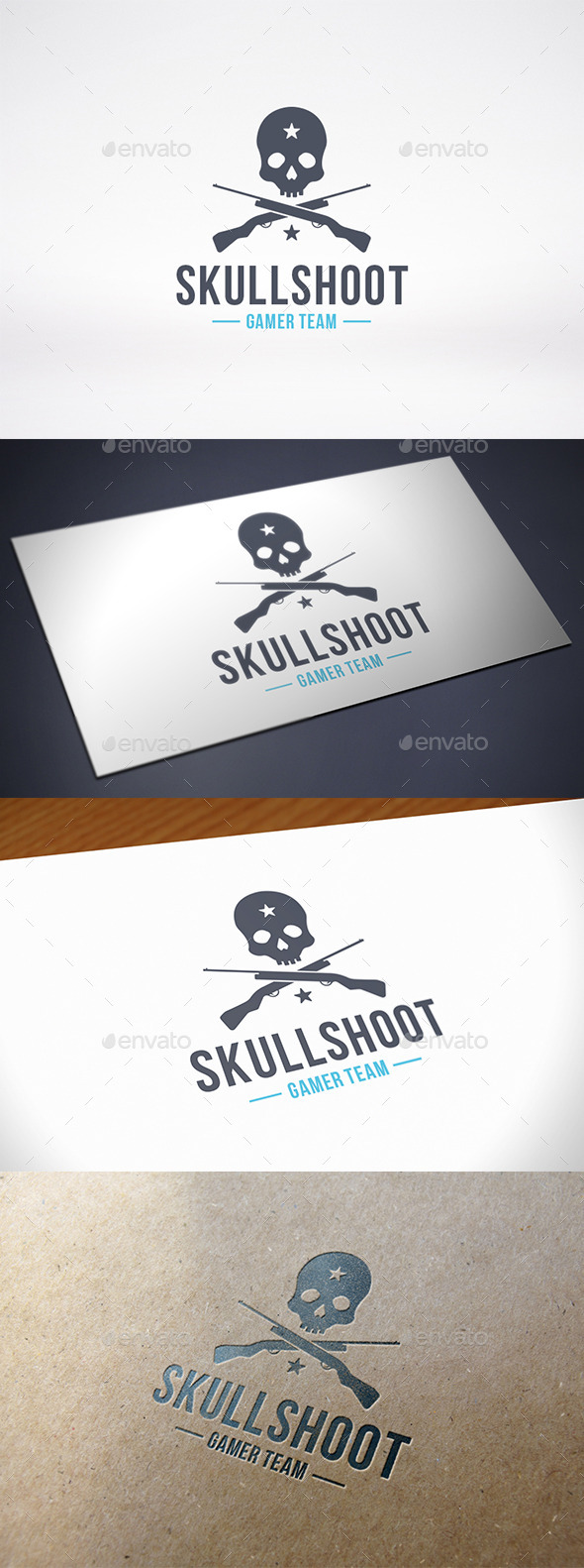 Shooter Game Team Logo Template - Crests Logo Templates