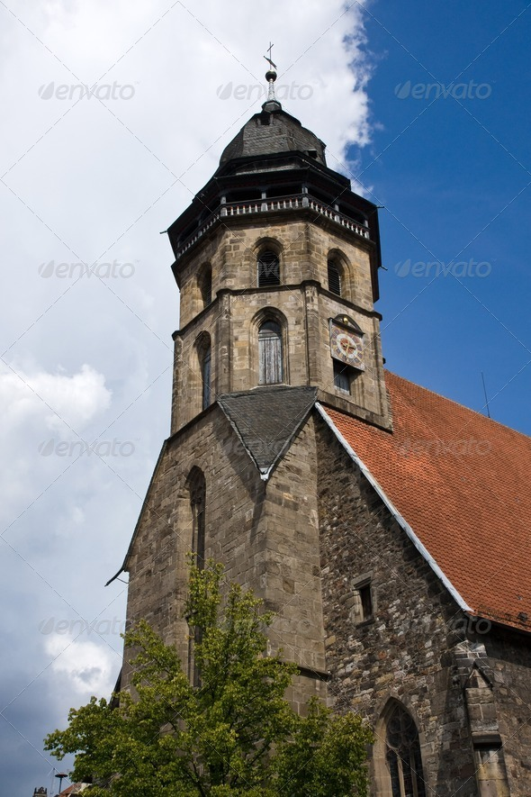 Old church in northern Germany - Stock Photo - Images