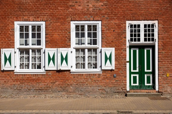 Historic facade in the dutch quarter - Stock Photo - Images