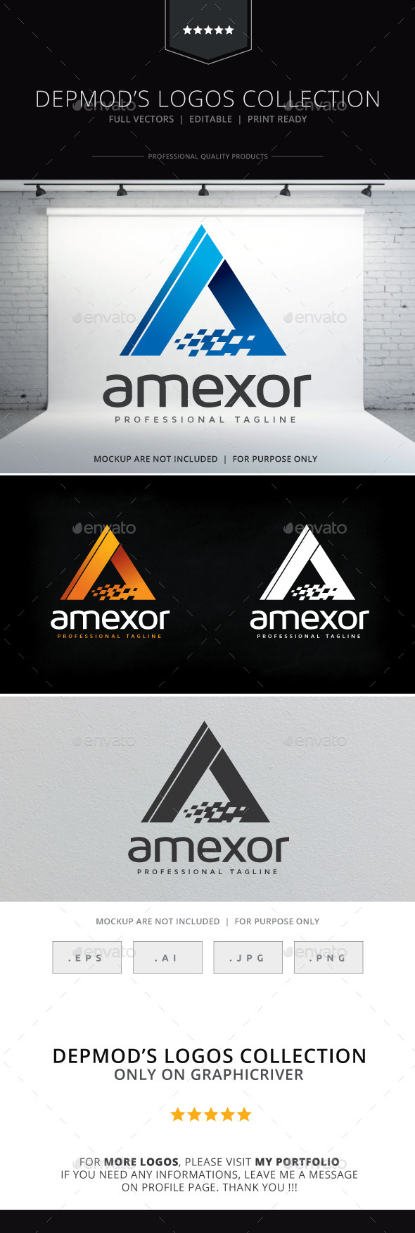 Amexor Logo - Letters Logo Templates