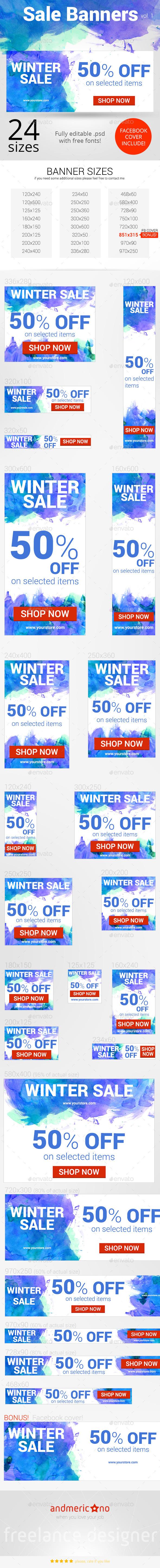 Big Sale Banners Set - Banners & Ads Web Elements