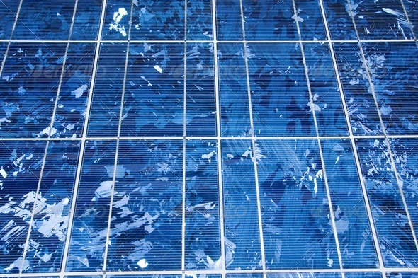Solar panel background - Stock Photo - Images