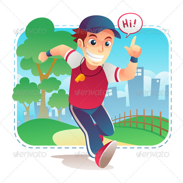 Running coach - Characters Vectors