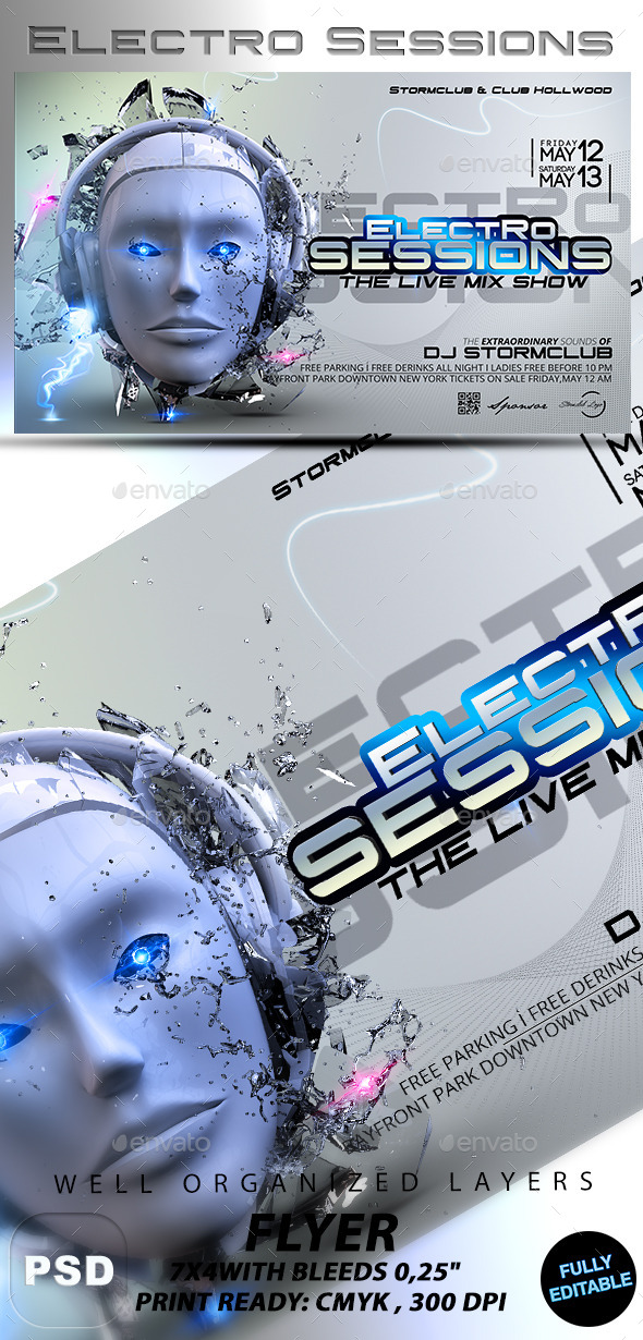 Electro Sessions - Events Flyers
