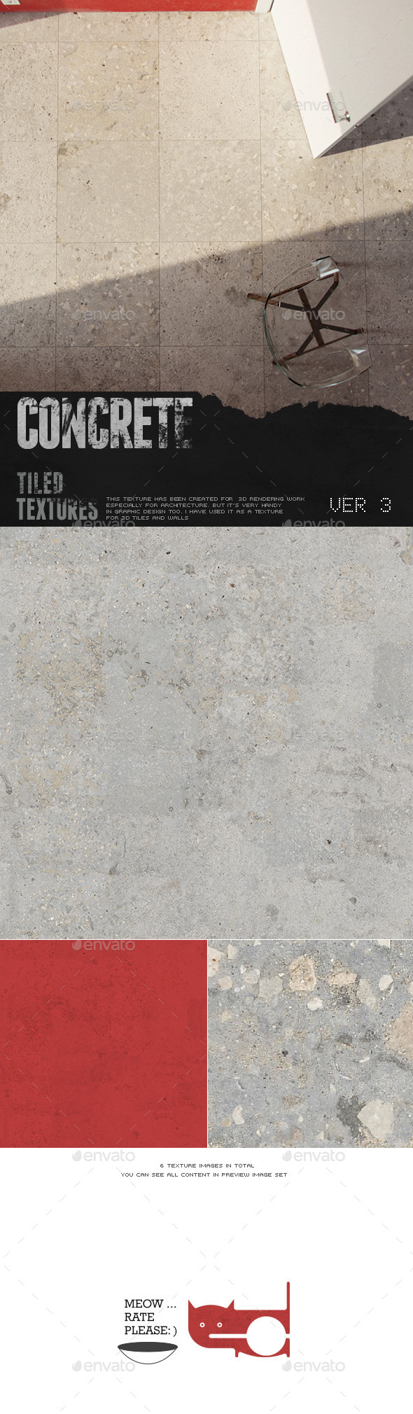 HD Concrete Surface 3 - 3DOcean Item for Sale