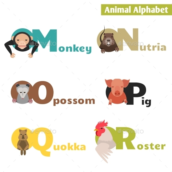 Animal Alphabet - Animals Characters