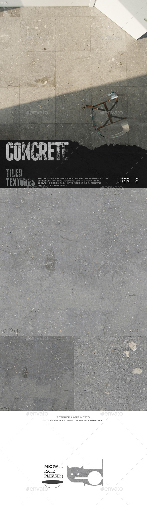 HD Concrete Surface 2 - 3DOcean Item for Sale