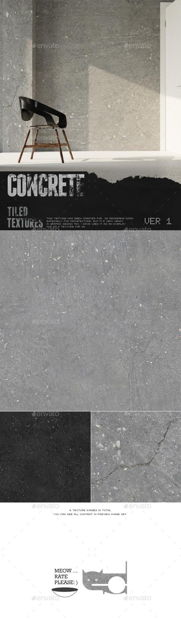 HD Concrete Surface 1 - 3DOcean Item for Sale