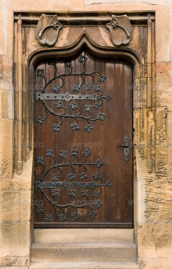 Beautiful old door - Stock Photo - Images