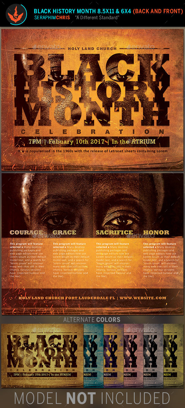 Black History Month Flyer Template By Seraphimchris Graphicriver