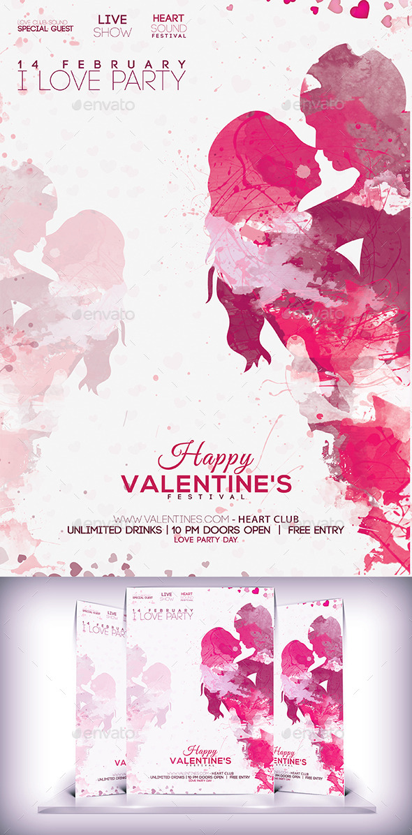 Lovers Day Party Flyer - Events Flyers