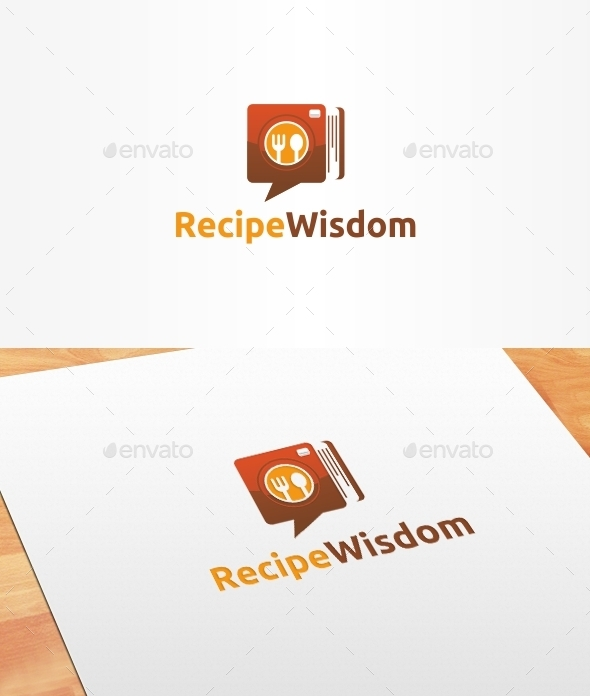 Recipe Wisdom Logo Template - Food Logo Templates