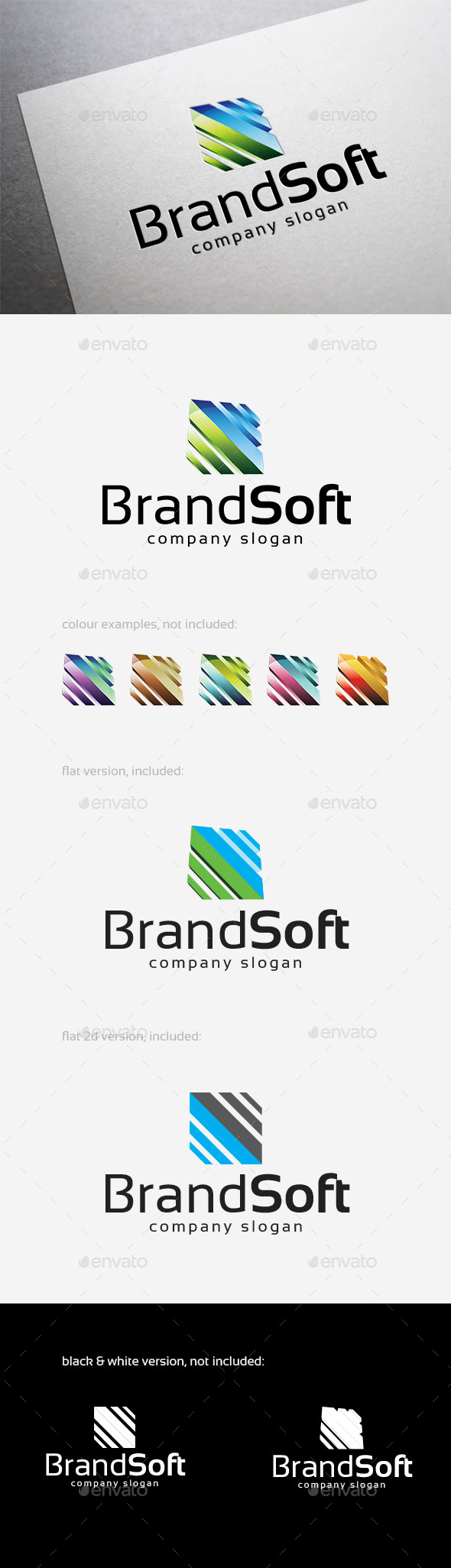 Brand Soft Logo - Abstract Logo Templates
