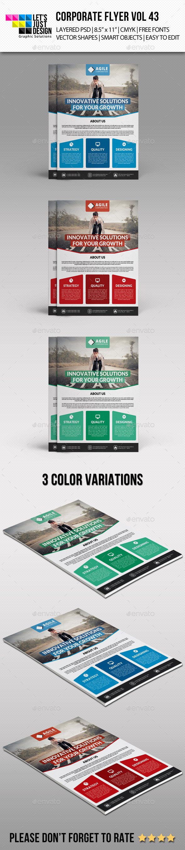 Corporate Flyer Template Vol 43 - Corporate Flyers