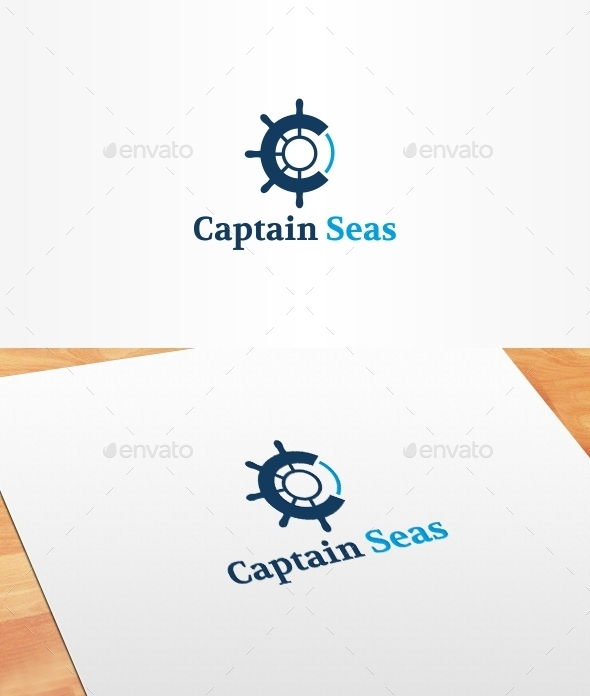 Captain Seas Logo Template - Symbols Logo Templates
