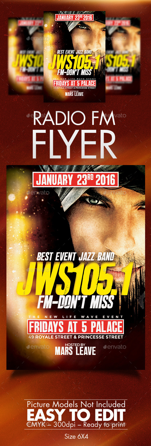 Jws105.1 Fm Flyer Template - Clubs & Parties Events