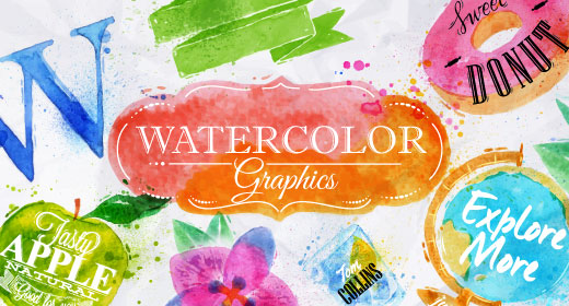 Watercolor graphics