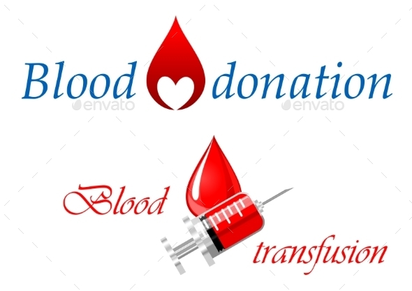 Blood Donation and Blood Transfusion Symbols - Health/Medicine Conceptual