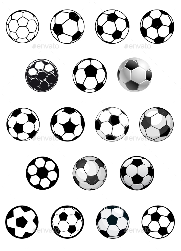 Soccer Balls or Footballs  - Sports/Activity Conceptual