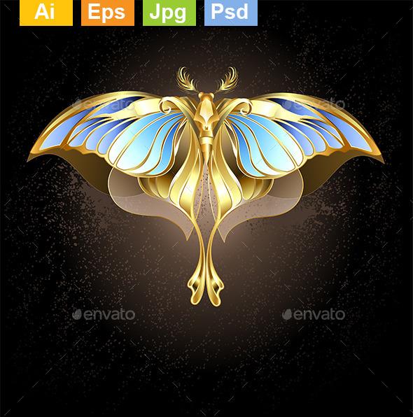 Golden Butterfly - Decorative Vectors