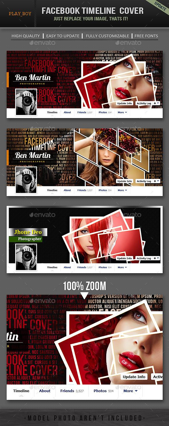 Facebook Timeline Cover - Social Media Web Elements
