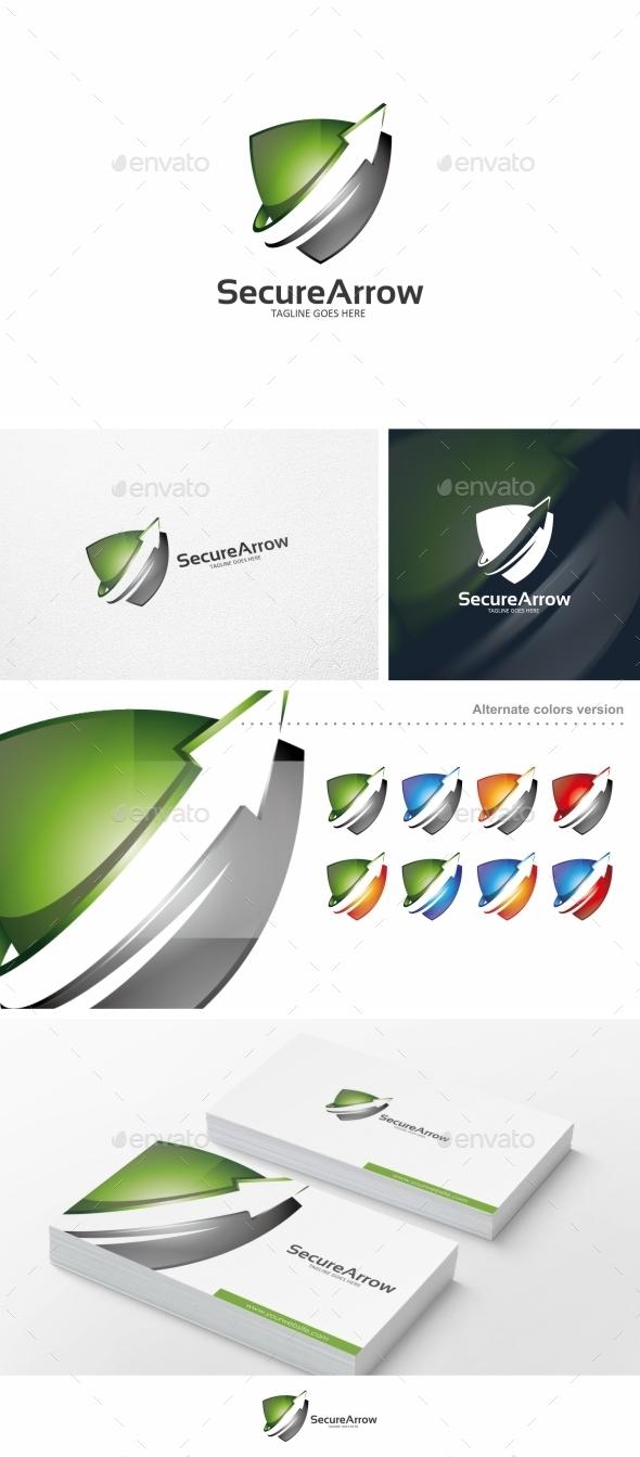 Secure Arrow - Logo Template - Symbols Logo Templates