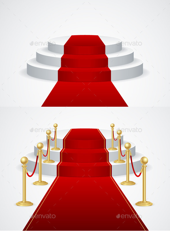 Podium with Red Carpet - Man-made Objects Objects