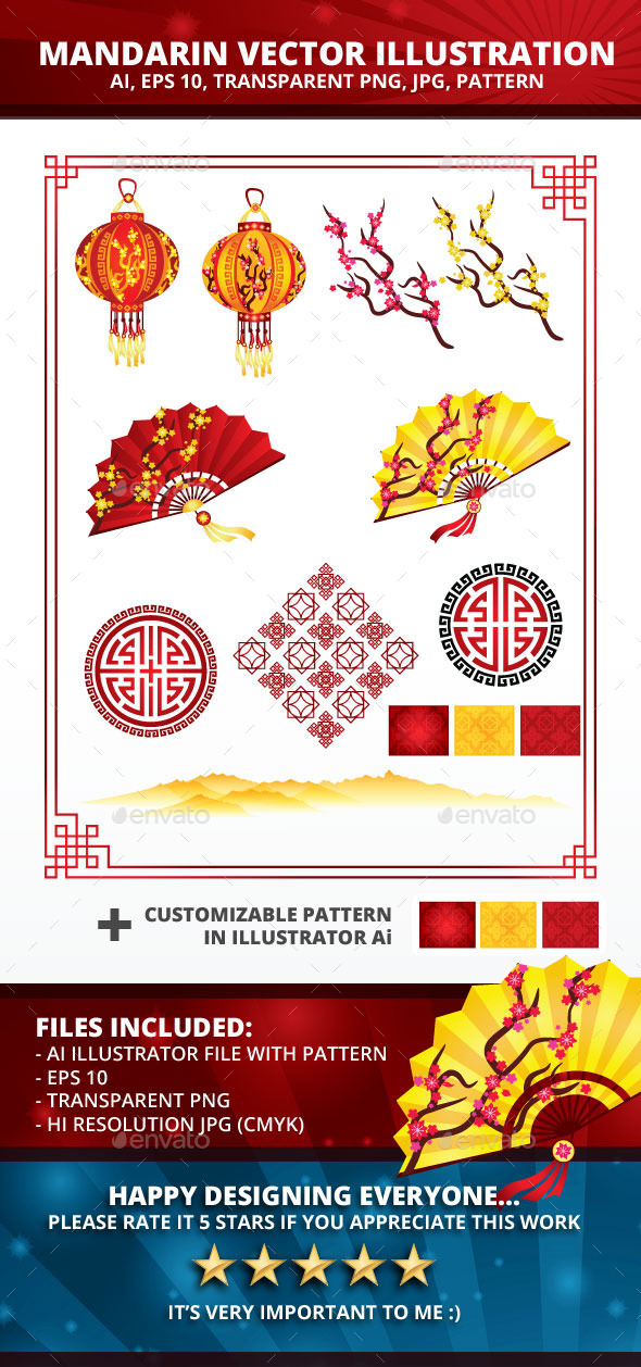 Mandarin Vector Illustration - Man-made Objects Objects
