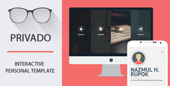 Privado – Interactive Resume & Portfolio Template