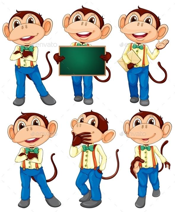 Monkey Set - Animals Characters