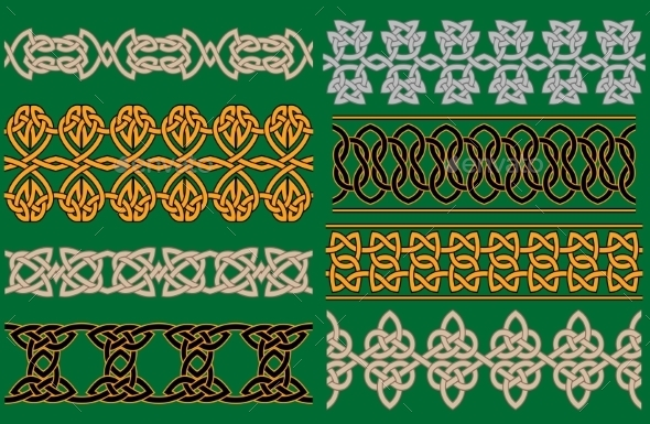 Celtic Linear Borders and Ornaments - Patterns Decorative