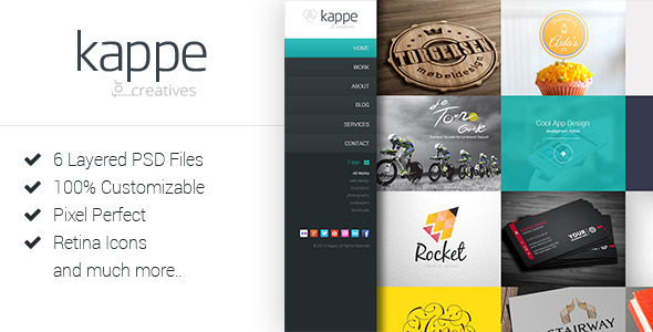 Kappe – Creative Full Screen Joomla Template