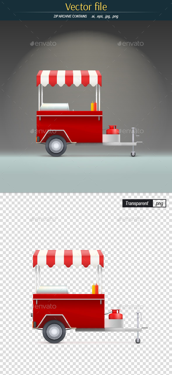 Fast Food Trolley - Food Objects