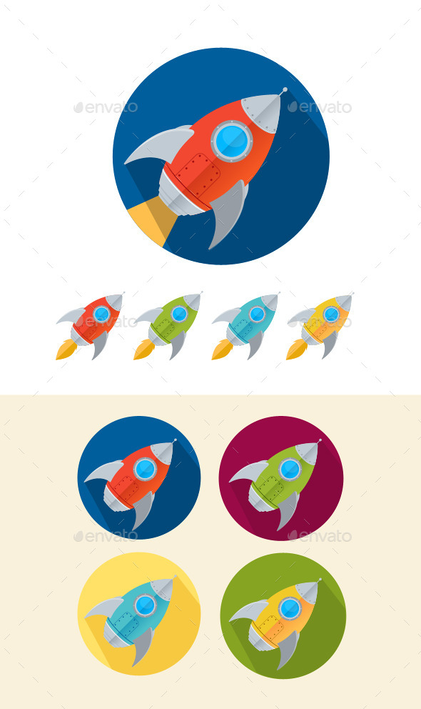 Rocket Icons Set - Commercial / Shopping Conceptual