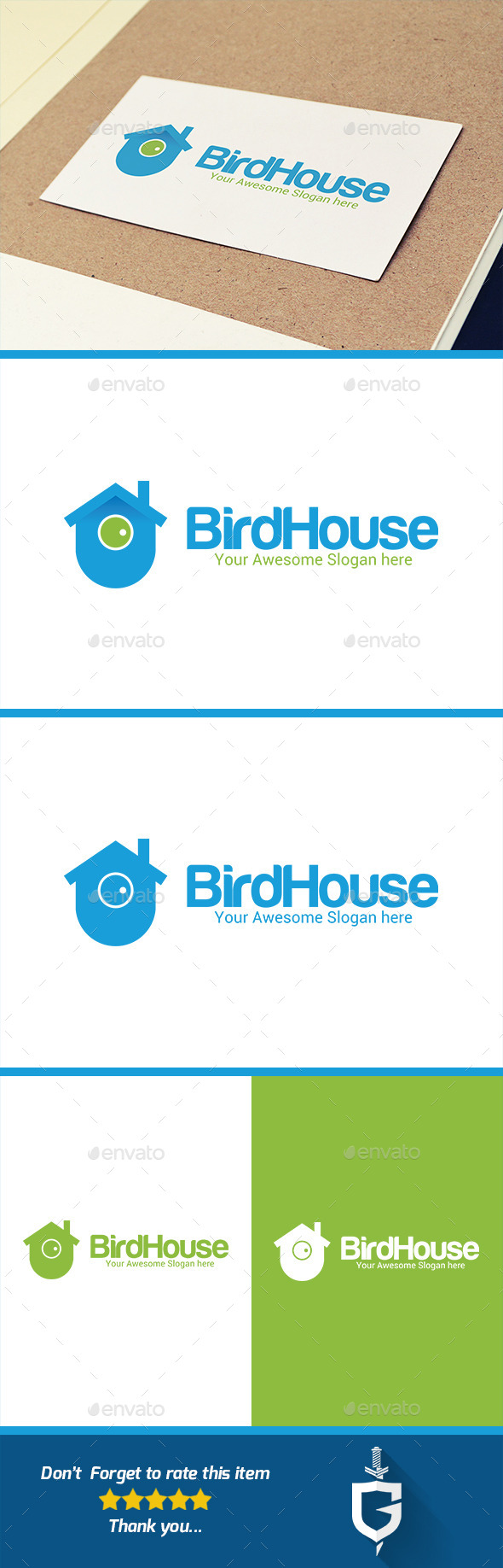 Bird House Logo Template - Buildings Logo Templates