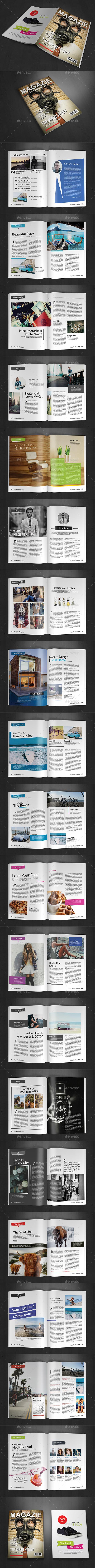 A4 Magazine Template Vol. 11 - Magazines Print Templates