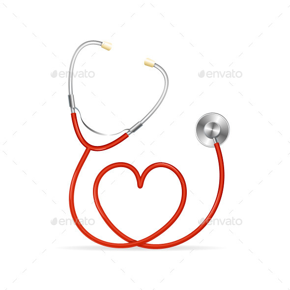 Red Stethoscope  - Health/Medicine Conceptual