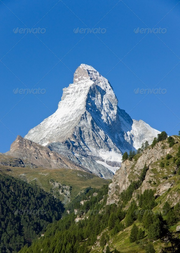 The majestic Matterhorn - Stock Photo - Images