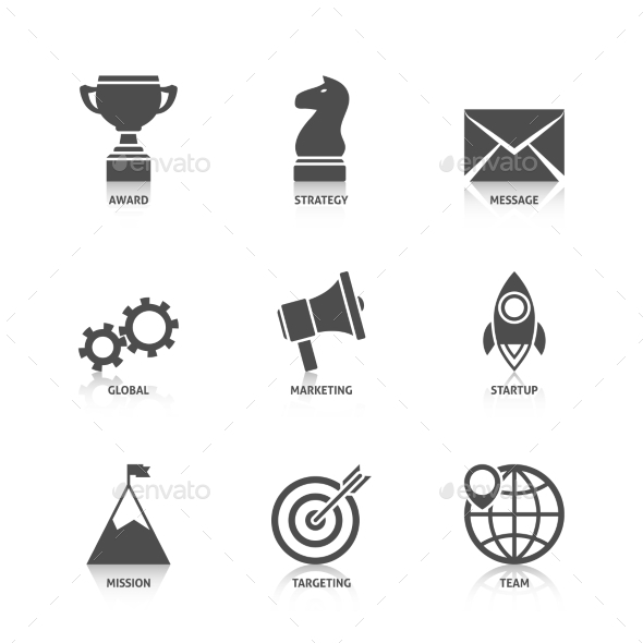 Start Up Icons with Reflection - Web Technology
