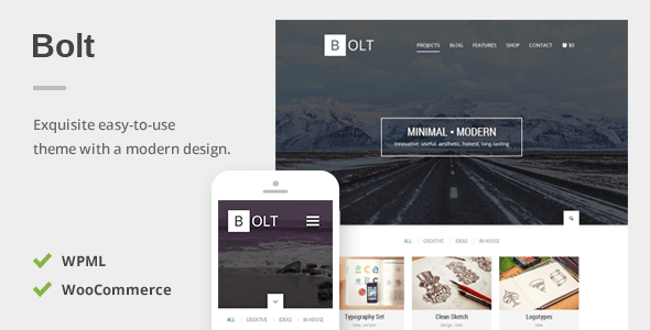 Bolt – A Delightful Responsive WordPress Theme