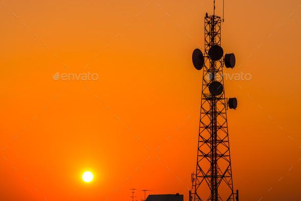 telecommunication tower - Stock Photo - Images